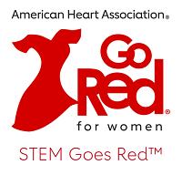 American Heart Association Go Red for Women STEM Goes Red Logo
